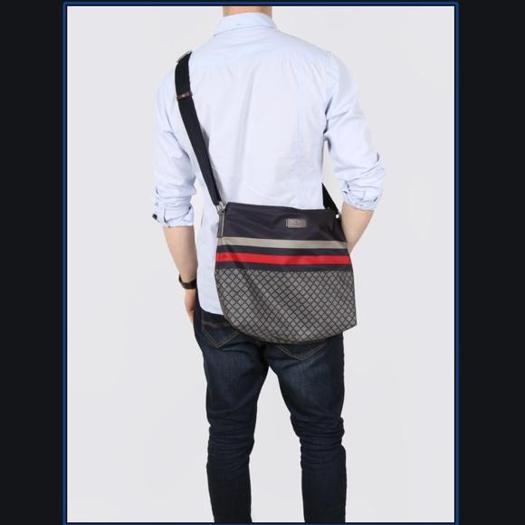 Gucci Brown Nylon Sling Messenger Bag